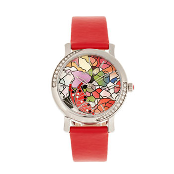 Bertha Womens Red Leather Strap Watch-Bthbr8702