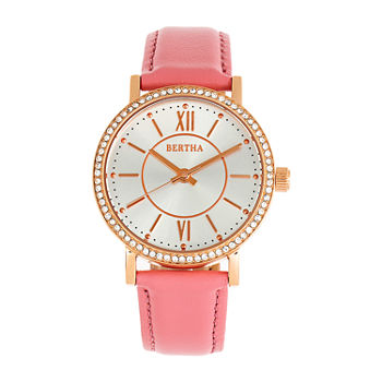 Bertha Womens Pink Leather Strap Watch-Bthbr9505