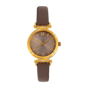 Bertha Womens Gray Leather Strap Watch-Bthbr9603