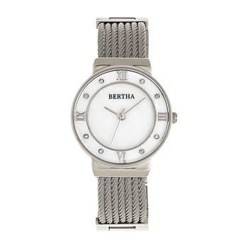Bertha Womens Silver Tone Stainless Steel Bracelet Watch - Bthbr9701