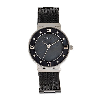 Bertha Womens Black Stainless Steel Bracelet Watch - Bthbr9702
