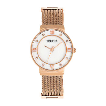 Bertha Womens Rose Goldtone Stainless Steel Bracelet Watch - Bthbr9705