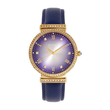 Bertha Womens Blue Leather Strap Watch-Bthbr9304