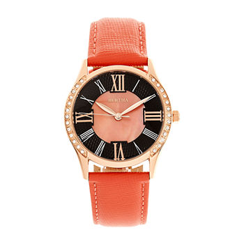 Bertha Womens Pink Leather Strap Watch-Bthbr8406