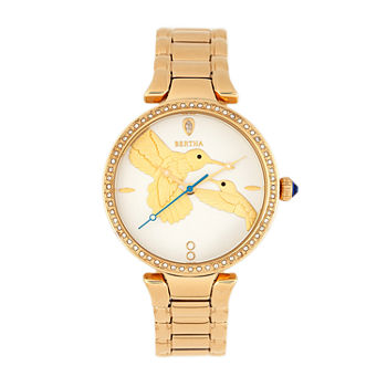 Bertha Womens Gold Tone Stainless Steel Bracelet Watch - Bthbr8502