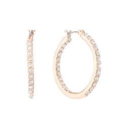 Gloria Vanderbilt Brass Hoop Earrings