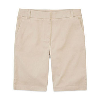 IZOD Little & Big Girls Stretch Adjustable Waist Bermuda Short