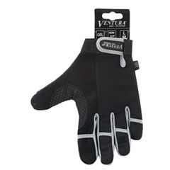 Ventura Unisex Bike Gray Full Finger Touch Gloves
