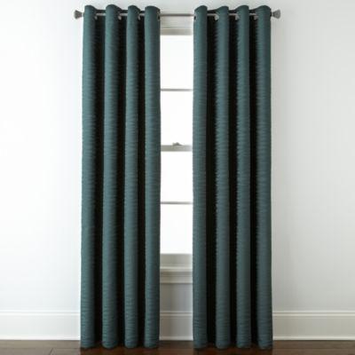 Studio™ Arden Wave Room Darkening Grommet Top Curtain Panel