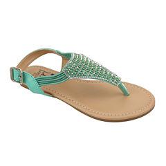 OMGirl Kiera Multicolor Bead Bungee-Strap Girls Sandals - Little Kids