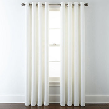 White Curtains Amp Drapes White Window Treatments Jcpenney