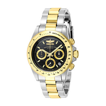 Invicta Signature Mens Chronograph Two Tone Stainless Steel Bracelet Watch - 7028