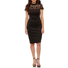 Bisou Bisou Short Sleeve Sheath Dress