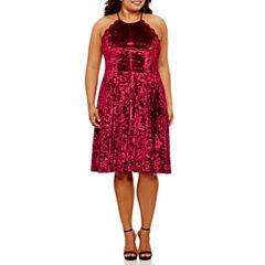 My Michelle Sleeveless Party Dress-Juniors Plus