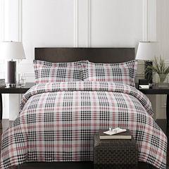 Tribeca Living Plaid Luxury 3-pc. Duvet Cover Set