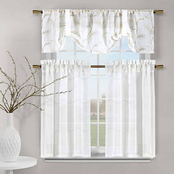 White Kitchen Curtains for Window - JCPenney