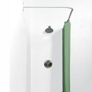 Shower Curtain Rods White Curtains For Bed Bath