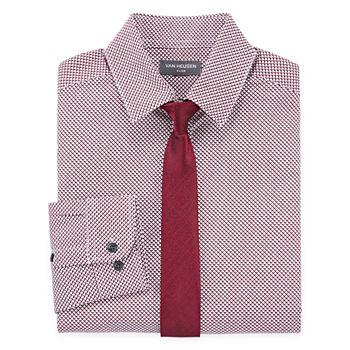 286d37584b Van Heusen Boys Point Collar Long Sleeve Stretch Shirt + Tie Set Preschool  / Big Kid