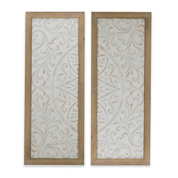 Floral Metal 2-pc. Wall Sign