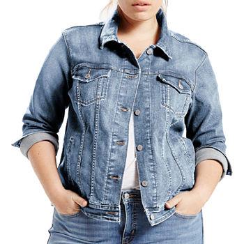 71e760cbe5851 OTW-Women Plus Size Ripped Distressed Denim Jean Jacket Coat at Amazon  Women s Coats Shop