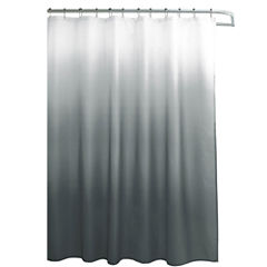 Ombre Waffle Weave Shower Curtain With 12 Color Coordinating Metal RingsGray Shower Curtains for Bed   Bath   JCPenney. Black And Cream Shower Curtain. Home Design Ideas