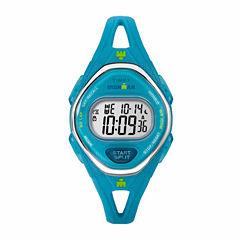 Timex Ironman Sleek 50 Mid-Size Womens Blue Strap Watch-Tw5m135009j