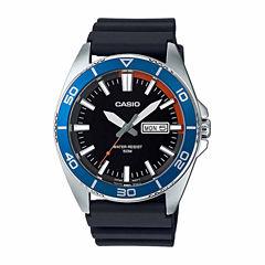 Casio Mens Black Strap Watch-Mtd120-1av