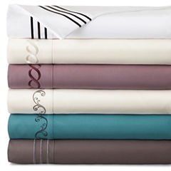 JCPenney Home™ Premium Embroidered Microfiber Sheet Set