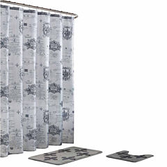 Fleur De Lis 15-Pc Shower Curtain Set