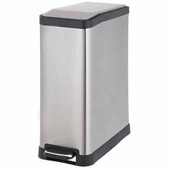 Home Zone 45-Liter Rectangle Trash Can With Pedal