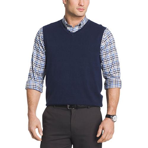 Van Heusen Solid V Neck Sweater Vest