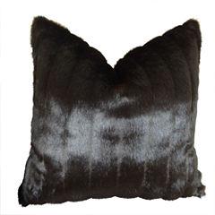 Plutus Tip Dyed Brown Mink Handmade Throw Pillow