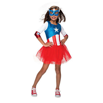 Marvel Avengers American Dream Metallic Dress Toddler Costume (3t-4t) Girls Costume Girls Costume
