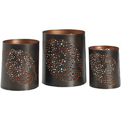 Luminaries Leaf Punch 3-pc. Candle Holder Set