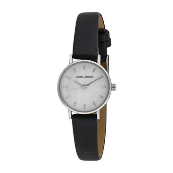 Laura Ashley Womens Black Strap Watch-La2001bk