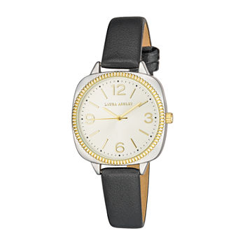 Laura Ashley Womens Black Strap Watch-La2026tt