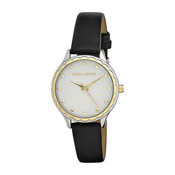 Laura Ashley Womens Black Strap Watch-La3000ss