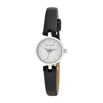 Laura Ashley Womens Black Strap Watch-La3001ss