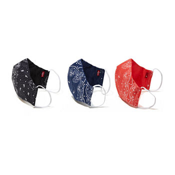 Levi's Reusable 3 Pack Unisex Adult Face Mask