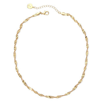 Liz Claiborne® Gold-Tone Textured Twist Necklace