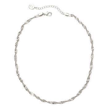 Liz Claiborne® Silver-Tone Textured Twist Necklace