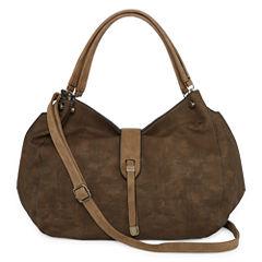 Boiyi Tab Over Large Hobo Bag
