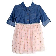 Lilt 3/4 Sleeve Skater Dress - Toddler Girls
