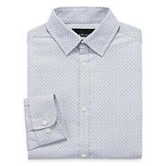Van Heusen Long Sleeve Yarn Dyed Woven Dress Shirt - 8-20 Boys