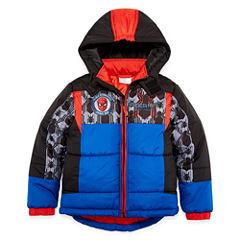 Spiderman Puffer Jacket - Preschool Boys
