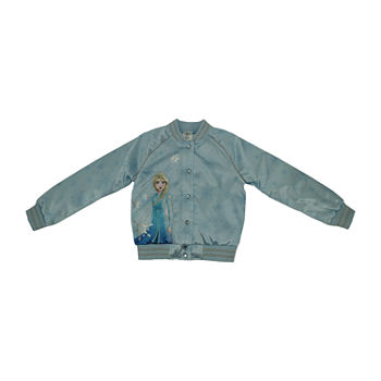 Disney Frozen Collection Little & Big Girls Varsity Jacket