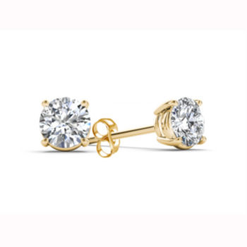 Fine Jewelry 1/3 CT. T.W. GENUINE White Diamond 10K GOLD 12.3mm Round Hoop Earrings