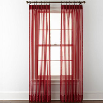 Red Sheer Curtains for Window - JCPenney