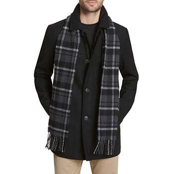 Dockers Wool Blend Walking Coat with Scarf