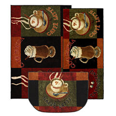 Mohawk Home New Wave Café Latte Printed Rectangular 3-pc. Rug Set